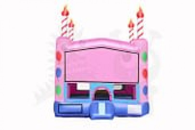 Birthday Cake Party Bouncer (Customizable Banner)