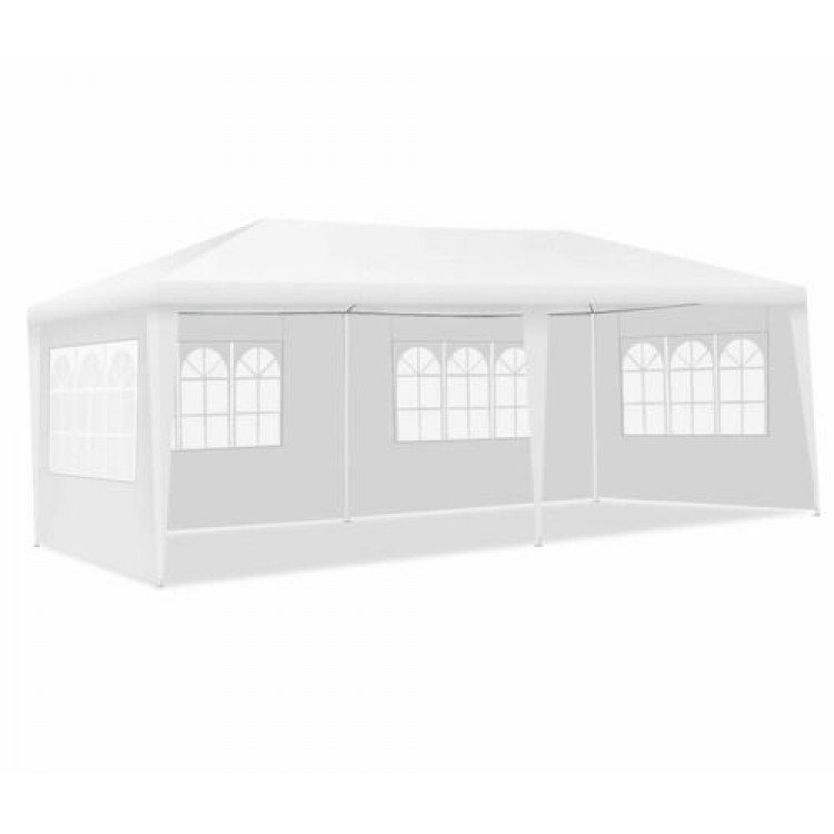 Canopy Tent With Drapes 10 x 20 x 8